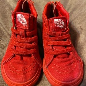Infant Size 4 Red Vans